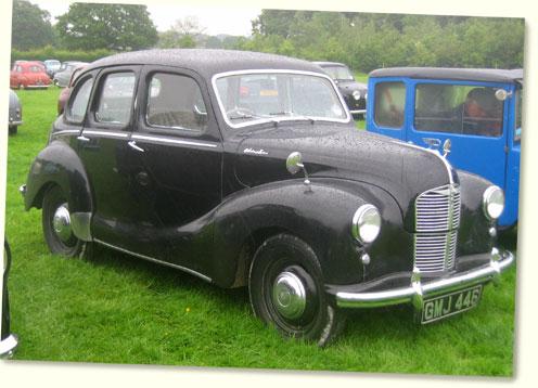 Austin a40 devon 1947 52 classic car portrait for 1948 austin devon 4 door