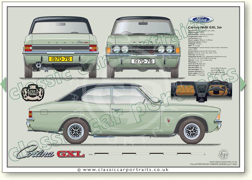 Ford Cortina Mk3 Glx 2000 2dr1970